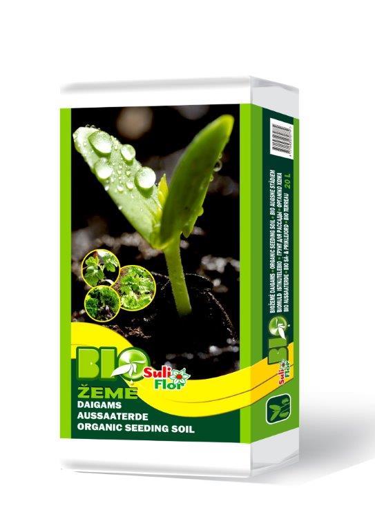 bio seeding durpės substratas daržovėms